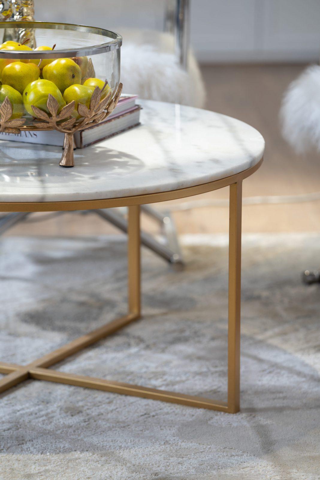 שולחן שיש עגול אלטון