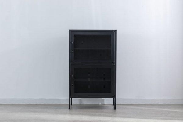 שידה גבוהה 2 דלתות פנגו (שחורה)