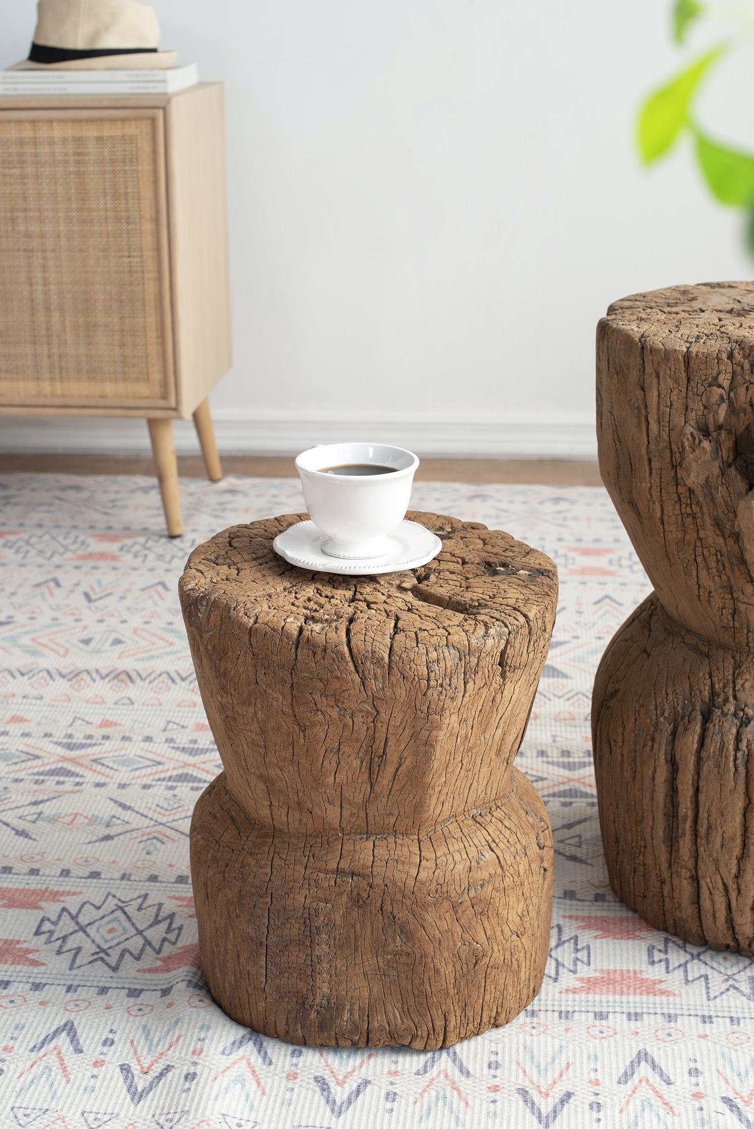 סטול עץ שבט מאיה